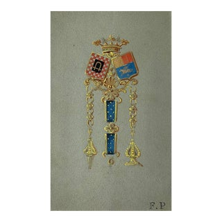 Van Cleef and Arpels Jewelry Design Gouache Painting For Sale