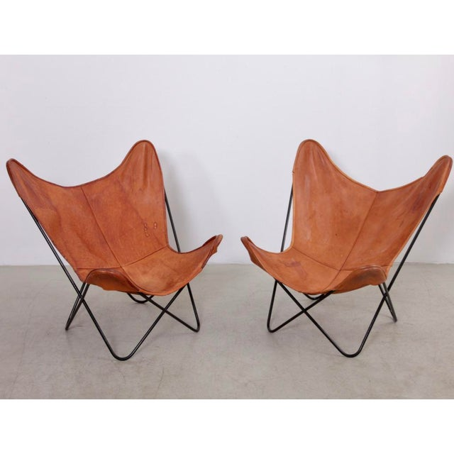 Rare Matched Pair of Ferrari Hardoy Butterfly Chairs for Knoll For Sale - Image 9 of 9