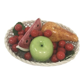 Italian Porcelain Fruit Bowl