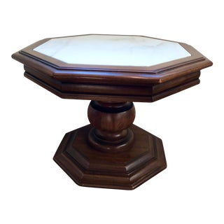 Vintage Italian Marble Top Table For Sale
