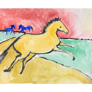 Horse Pasture - Works on Paper For Sale