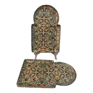 Vintage Viking Imports Paper Mache Snack Trays For Sale