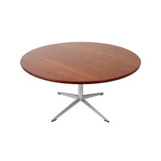 H.W. Klein Bramin Danish Modern Round Teak Coffee Table For Sale