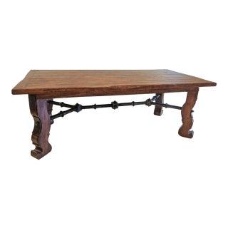 Rustic European Alderwood Dining Table For Sale