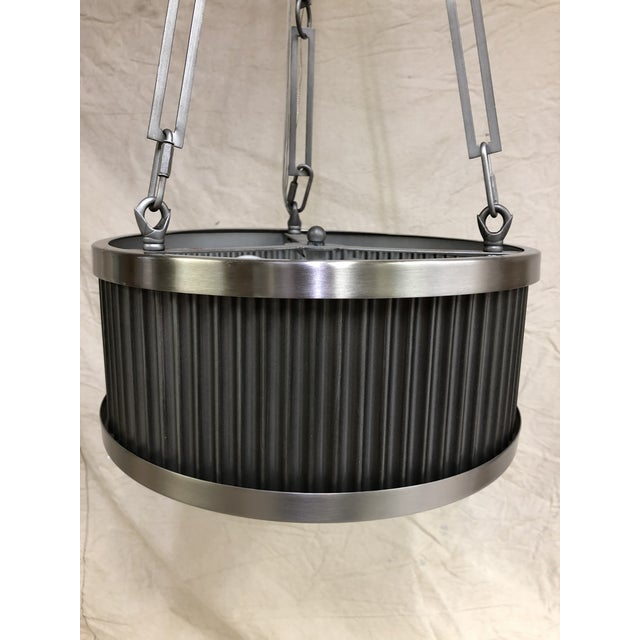 Metal Ruffle 3-Light Pendant by Maxim For Sale - Image 4 of 6