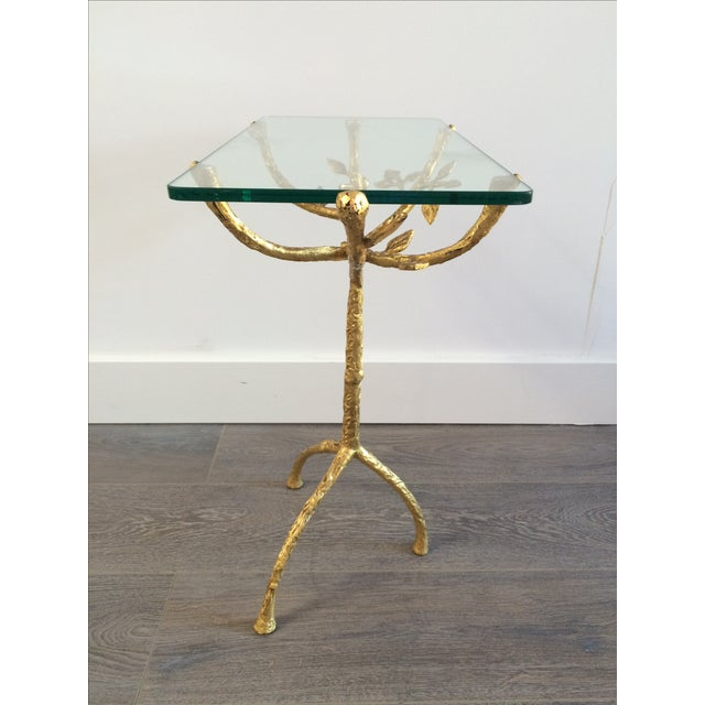 "Gilt Iron Giacometti Style ""Tree"" Side Table - Image 6 of 11"
