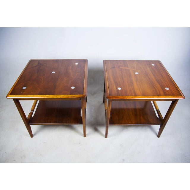 Constellation Walnut & Metal Tables - A Pair - Image 4 of 11