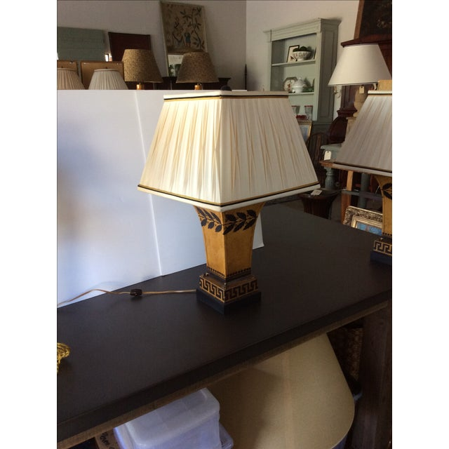 Antique French Tole Lamp with Shade - Image 2 of 3