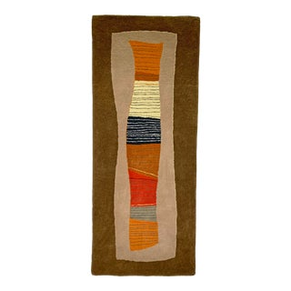 C. 1980s Toulemonde Bochart Woven Abstract Rug Wall Hanging, Made in France For Sale