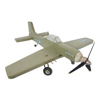 Vintage Folk Art Model Airplane