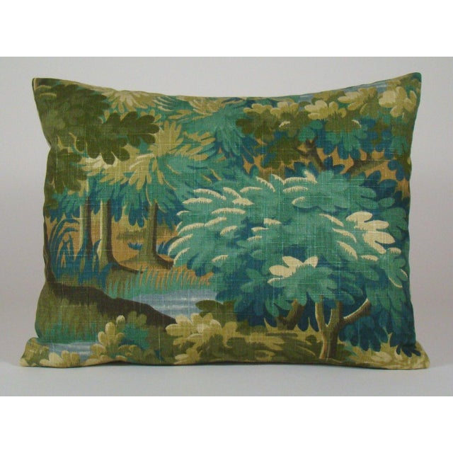 Verdure Print Linen Large Lumbar Pillow Cover For Sale - Image 11 of 11