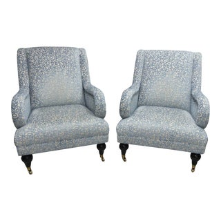 Hickory Chair Gabriela Lounge Chairs - a Pair For Sale