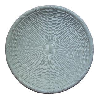 Vietri Ceramic Basketweave Platter For Sale