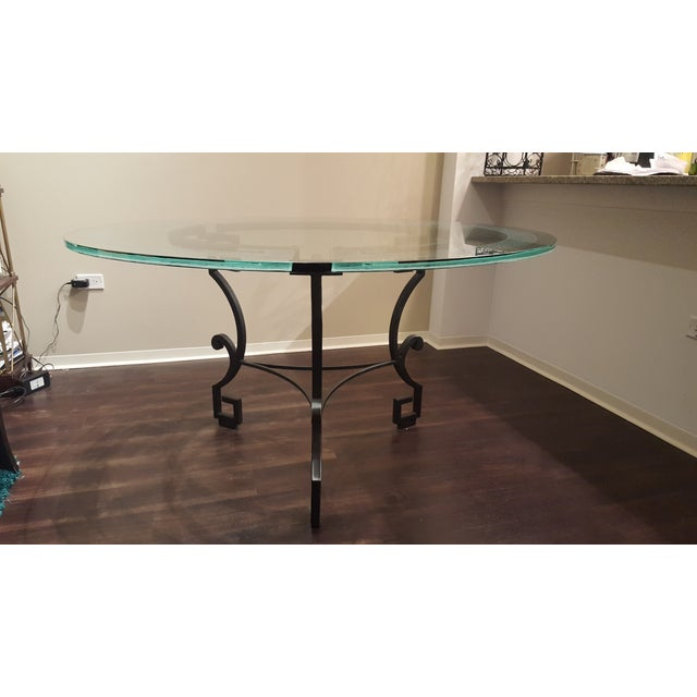 Circular Glass Dining Table - Image 2 of 4