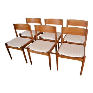 1960s Arne Vodder Sibast Denmark Teak Dining Chairs - Set of 6 For Sale