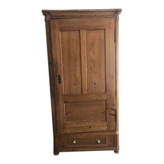 Antique French Country Pine Armoire For Sale