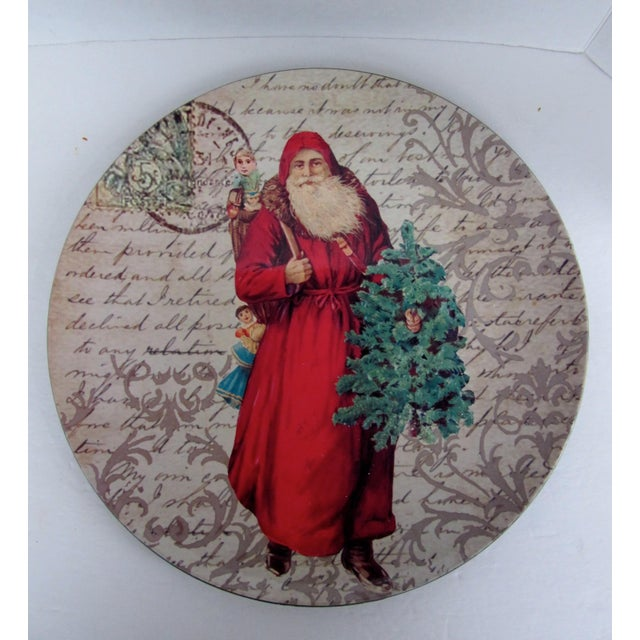 Decorative Christmas Charger Plates-2 Pieces For Sale - Image 4 of 6
