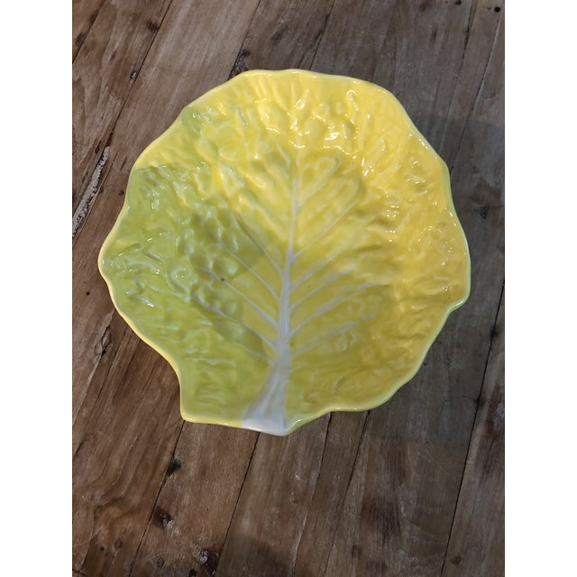 1960s Vintage Yellow Cabbage Platter For Sale - Image 4 of 7
