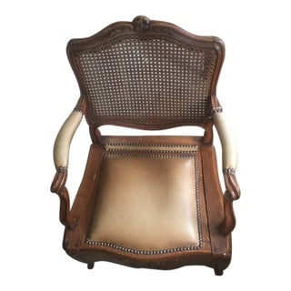 18th Century French Country Walnut Commode Potty Chair For Sale