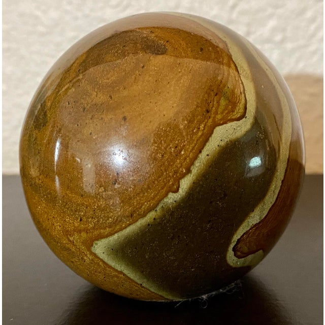 Vintage Spanish Marble La Pedregala Paperweight For Sale - Image 4 of 7