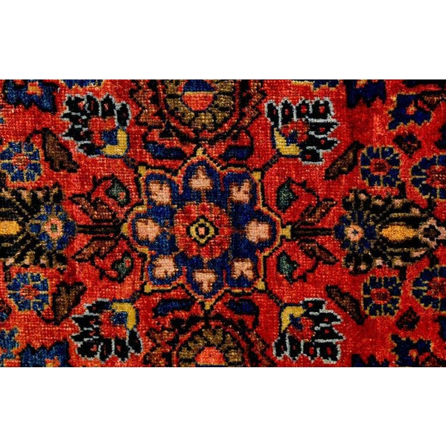 Exceptional Early 20th Century Petite Sarouk Rug - 2′2″ × 2′8″ - Image 4 of 5