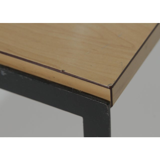 1950s Mid-Century Modern Florence Knoll T Angle Table With a Birch Laminate Top For Sale In Philadelphia - Image 6 of 13