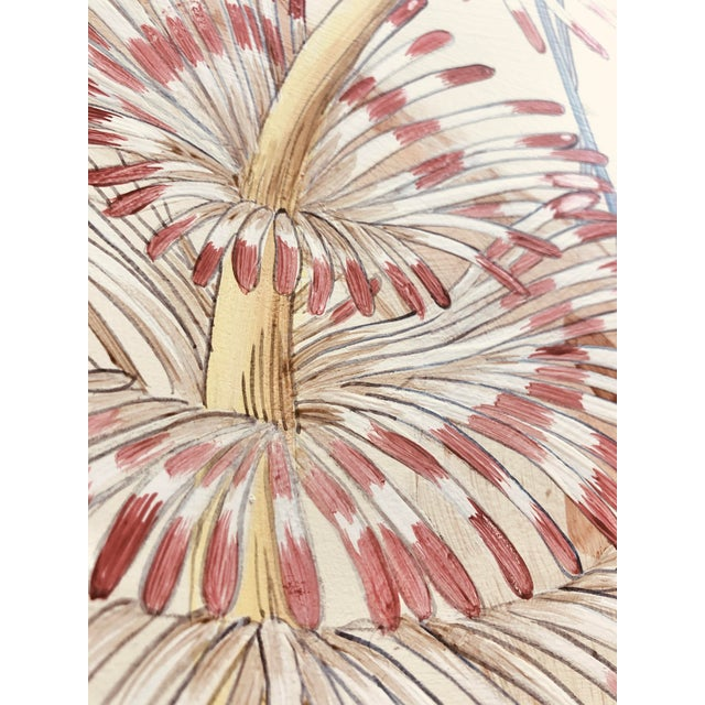 Contemporary Coral Reef Acrylic Triptych Painting by Allison Cosmos - Set of 3 For Sale - Image 9 of 11