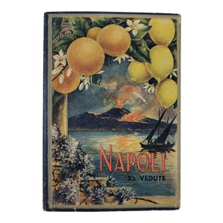 Vintage Napoli Italy Panoramic Photography Travel Folio Book For Sale
