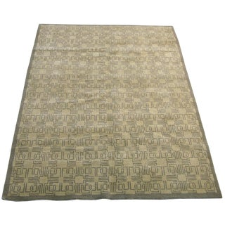 Decorative Modern Tibetan Woolen Handmade Rug 5'9'' X 4'ft For Sale