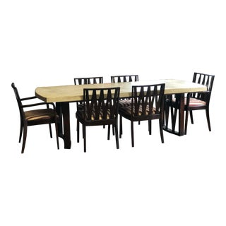 Paul Frankl Cork Top Dining Table & Chairs Set For Sale
