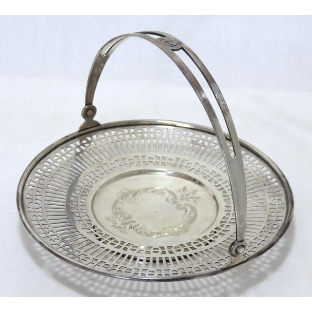A Classic Transitional Victorian - Edwardian Style sterling silver Mint - Candy basket with Hand engraved and Pierced -...