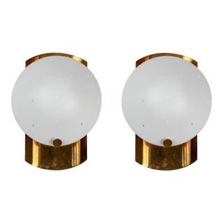 1950s Italian Perforated Sconces in the Manner of Gino Sarfatti - a Pair For Sale