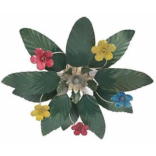 1950s Italian Floral Ceiling Light