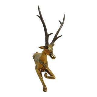 Vintage Mid-Century Brass Deer Statue