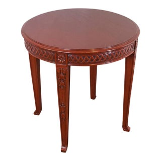 Chinese Modern Style Round End Table For Sale