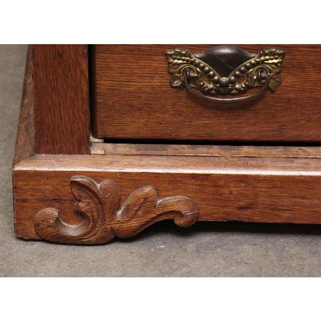 Carved Embellishment Oak Dresser - Image 8 of 10