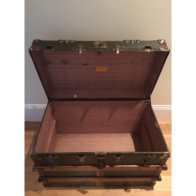 Antique English Steamer Trunk - Image 4 of 10
