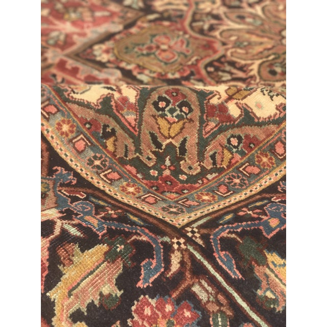 """Thick & Hearty Vintage Persian Ahar Area Rug - 7'3"""" x 10'5"""" - Image 11 of 11"""