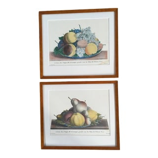 Late 19th Century French Still Life Fruit Lithographs, Framed - a Pair For Sale