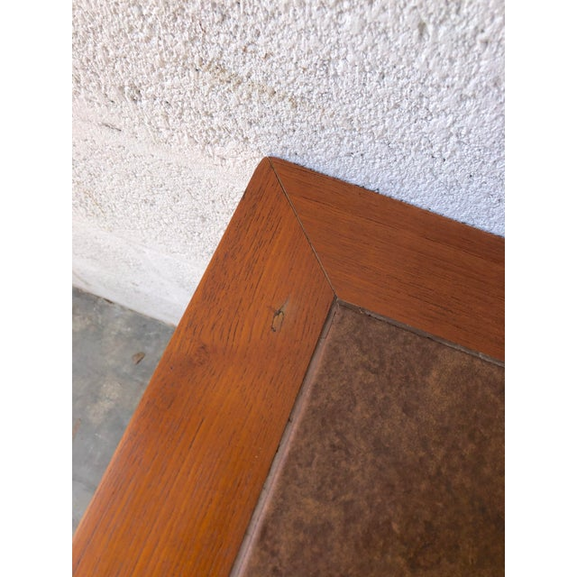 Brown Vintage Mid Century Danish Modern Tile Top Console/ Entry Table For Sale - Image 8 of 13