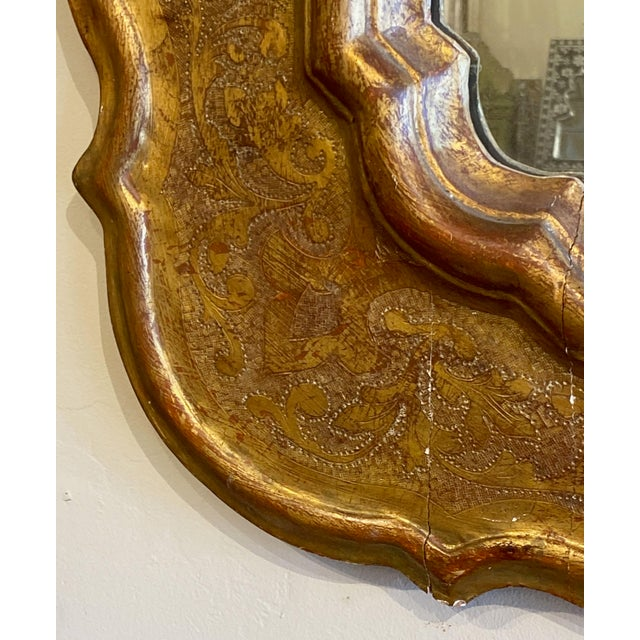 19th Century 19th Century Antique French Gilt Mirror For Sale - Image 5 of 8