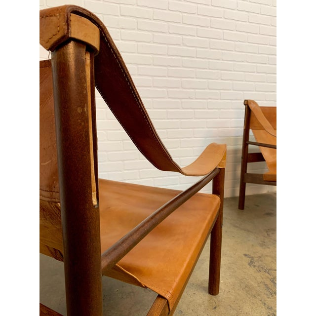 Metal Abel Gonzalez Safari Sling Lounge Chairs - a Pair For Sale - Image 7 of 13