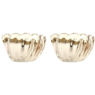 """Italian 1960s Venetian Murano """"Sommerso"""" Clear Glass Wall Sconces - a Pair For Sale"""