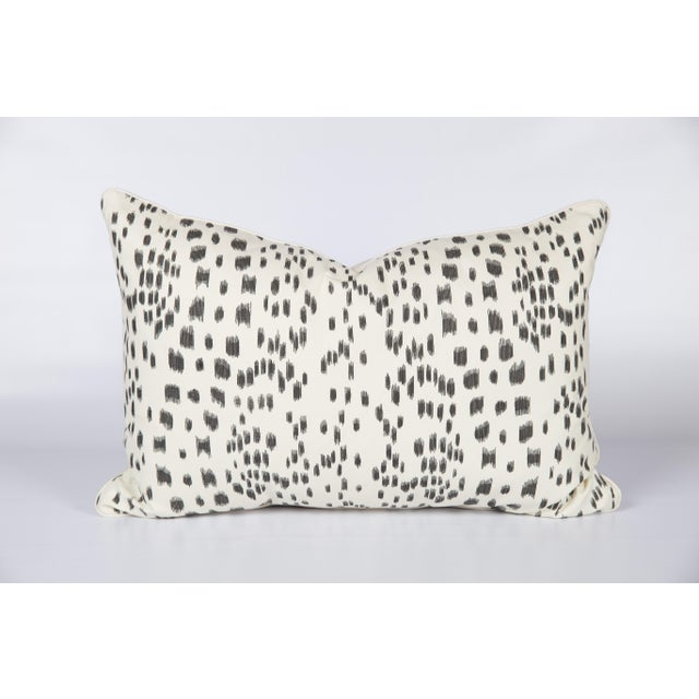 Black and Ivory Brunschwig & Fils Les Touches Lumbar Pillow For Sale In Atlanta - Image 6 of 6
