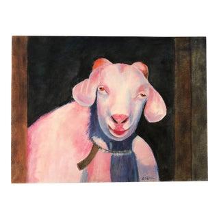 G. H. Warren Acrylic Pink Sheep Painting Reproduction by Lisa Burris