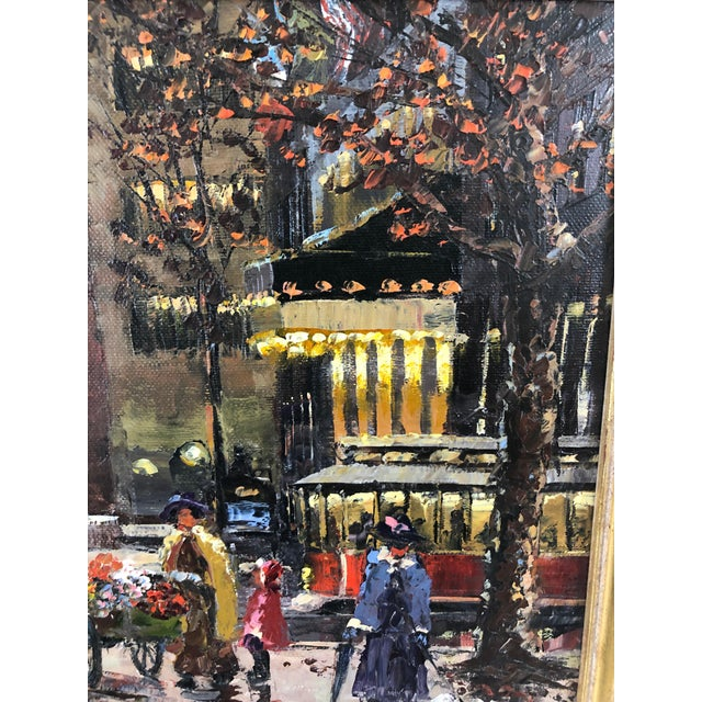 Contemporary Original Oil Painting of New York City Pulitzer Fountain at the Plaza For Sale - Image 3 of 9