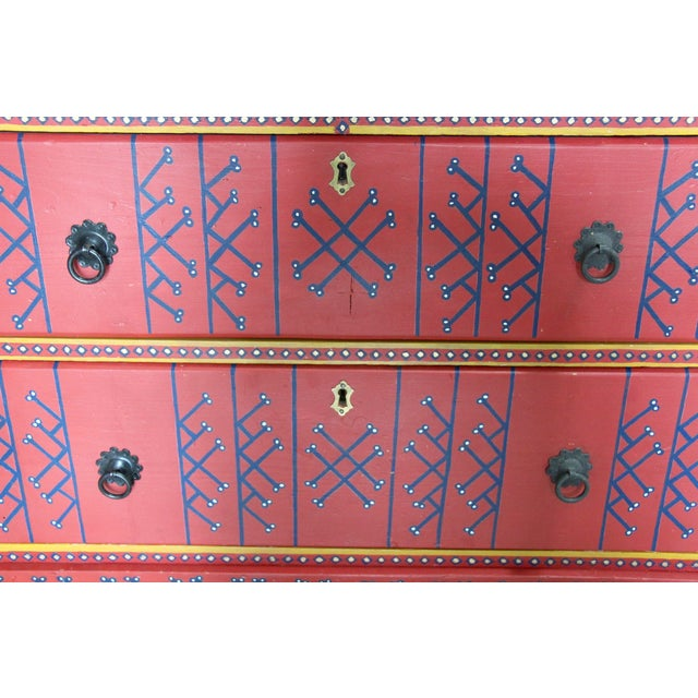 19th-Century English Painted Chest of Drawers - Image 7 of 7