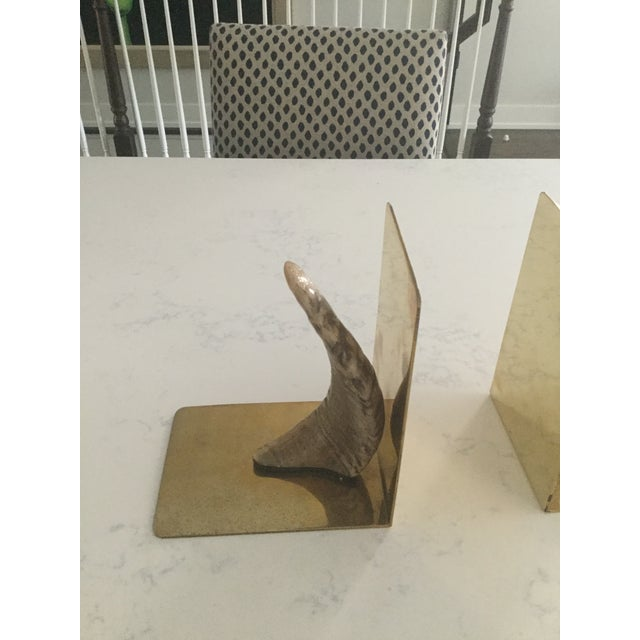 Handmade Brass & Horn Bookends - A Pair - Image 5 of 7