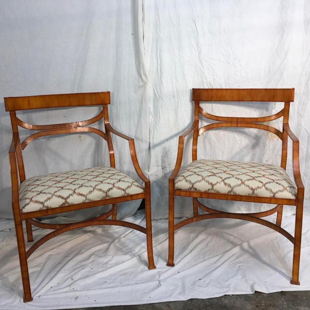 Maitland Smith Tole Armchairs - a Pair - Image 11 of 11
