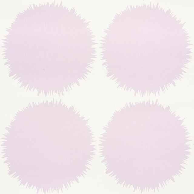 Contemporary Schumacher Fuzz Wallpaper in Lavender For Sale - Image 3 of 4
